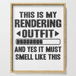 This Is My Rendering Outfit Funny Filmmaker Video Editor Gift  Serving Tray