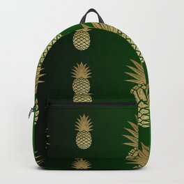 Pineapple dark green to light pattern Backpack