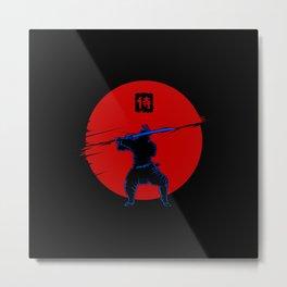 Cyber Samurai Metal Print