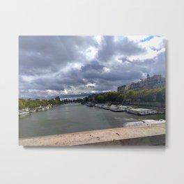 Paris.  Seine river. Museum  D'orsey Metal Print