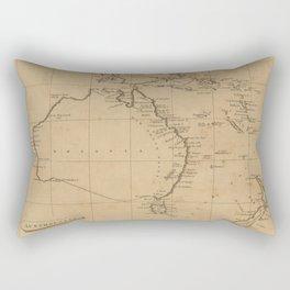 Vintage Map of Australia & New Zealand (1812) Rectangular Pillow
