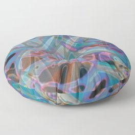 Colorful Abstract Stained Glass G302 Floor Pillow