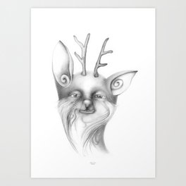 the smile of a Librion Art Print