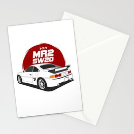 MR2 SW20 White Stationery Cards