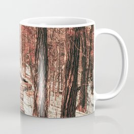 Stairs in the Forest | Winter Landscape in Minnesota | Travel Photography Coffee Mug