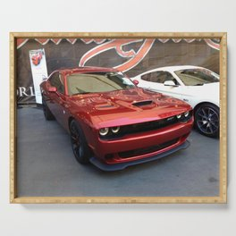 Octane Candy Aplle Red Challenger Hellcat color photograph / photography / poster Serving Tray