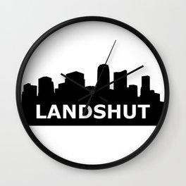 Landshut Skyline Wall Clock