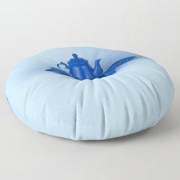 Blue tea party madness - still life Floor Pillow