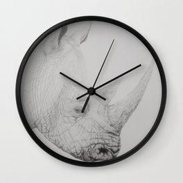 Graphite Rhino Wall Clock