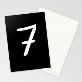 Number 7 - Lucky Number Seven Stationery Cards