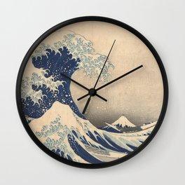 Under the Great Wave off Kanagawa - Katsushika Hokusai (1829-1833) Wall Clock