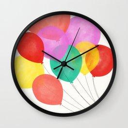 Emma's Balloons Wall Clock