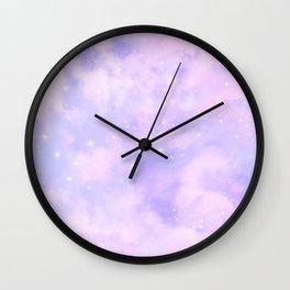 Pastel Cloulds Sky Seamless Nebula 274 Wall Clock