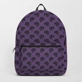 gothic dark occult goth purple griffins pattern Backpack