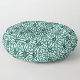 Watercolor Green Tile 3 Floor Pillow