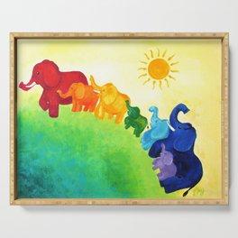 Elephant Rainbow Serving Tray