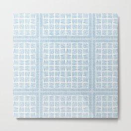 Nappy Faux Velvet Framed Weave in Powder Blue Metal Print