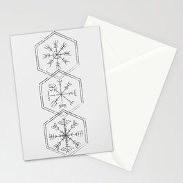 Three runes Stationery Cards
