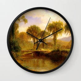 Samuel Colman - Moat Mountain and North Conway Ledges from Artist Brook Wall Clock