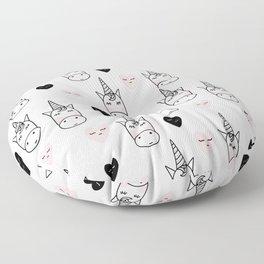 Unicorn hearts Floor Pillow