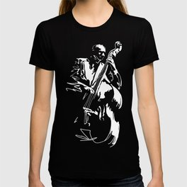 Cool Graphic Jazz Lovers Upright Bass Player design T-shirt