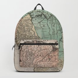 Vintage Map Print - de L'Isle - Northern South America / Peru (1729) Backpack