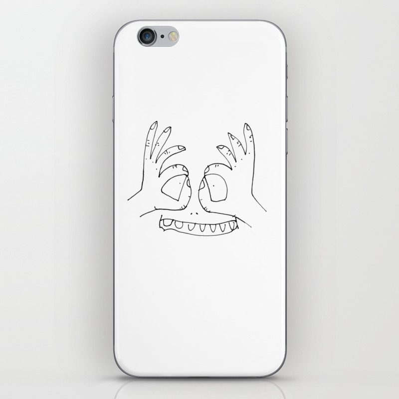 Hand Goggles Iphone & Ipod Skin by Jennyhaytch PSK796677