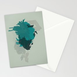 Geometric Mapping #2 • by Secret Peak Stationery Cards