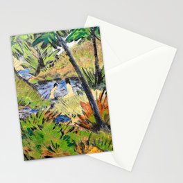 Otto Mueller - Bathing Girls in the Forest Pond - Digital Remastered Edition Stationery Cards