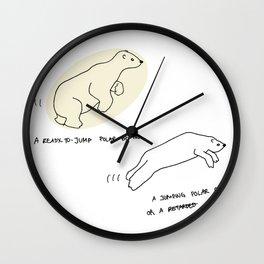 Polar Bear or Retarded Gecko? Wall Clock