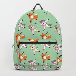 Dabbin Unicorn, Fox & Goat Pattern Gift Backpack
