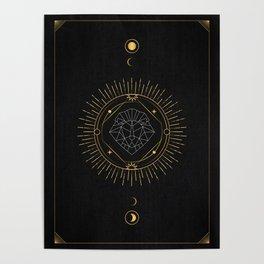 Tarot geometric #6: Lion Poster