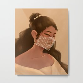Filipina Mask  Metal Print