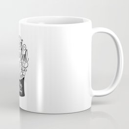 Calligraphy letters christmas snow globe Coffee Mug