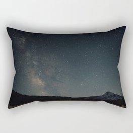 Milky Way over Mount Hood Rectangular Pillow