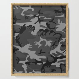 Camouflage - camo grey Serving Tray