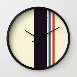 Classic Minimal Racing Car Retro Stripes - Furaribi Wall Clock