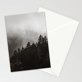 Misty Forest in Black and White II Stationery Cards