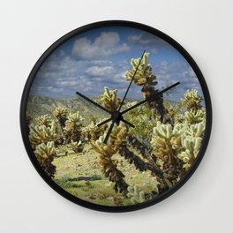 Cactus called teddy bear cholla No.0265 Wall Clock