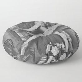 Prima Ballerina classical ballet portrait black and white photograph / black and white photography Floor Pillow