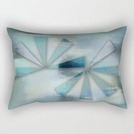 Triangles on Blue Grey Backdrop Rectangular Pillow
