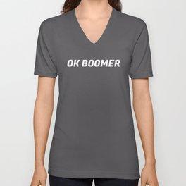 OK Boomer I Unisex V-Neck