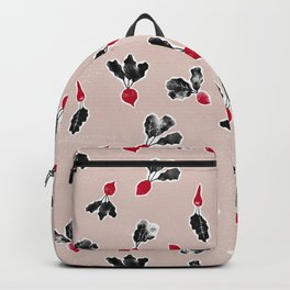 Radishes Stamps | Rose Dust Background Backpack