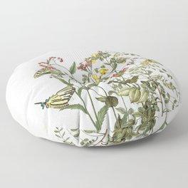 My mind is a garden II - butterflies and flowers Floor Pillow