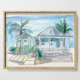Key West Conch Dream House-Blue and Pastel Homes Serving Tray