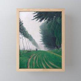 Effet de brume, Honfleur by Félix Vallotton - Colorful Les Nabis Art Framed Mini Art Print