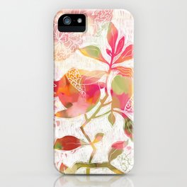 Pomegranate Flowers iPhone Case