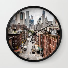 New York City Skyline (Brooklyn, Queens, Manhattan) Wall Clock