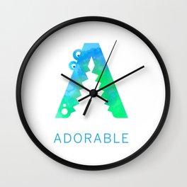 Adorable Big Letter 2 Wall Clock