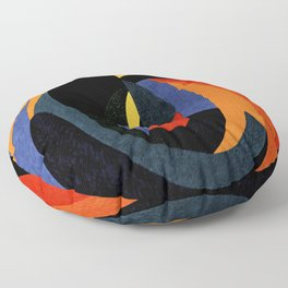 Abstract art in curved patterns Floor Pillow